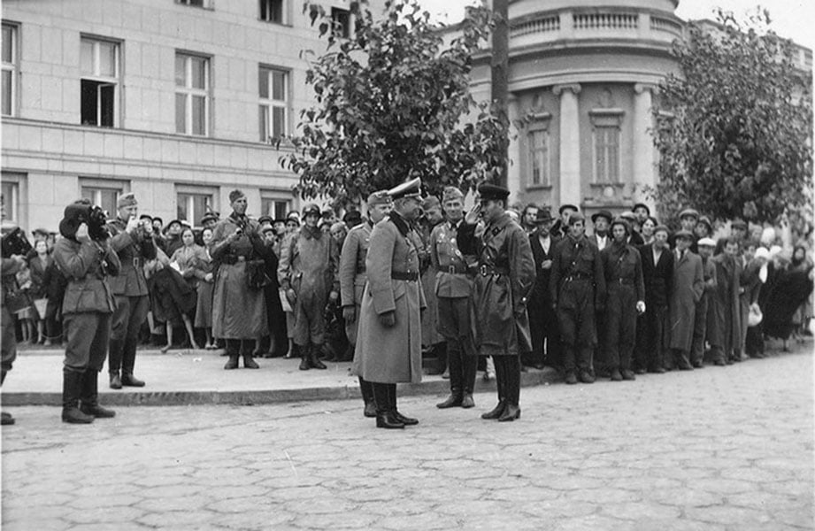 Брест. Совместный парад советских и германских фашистов