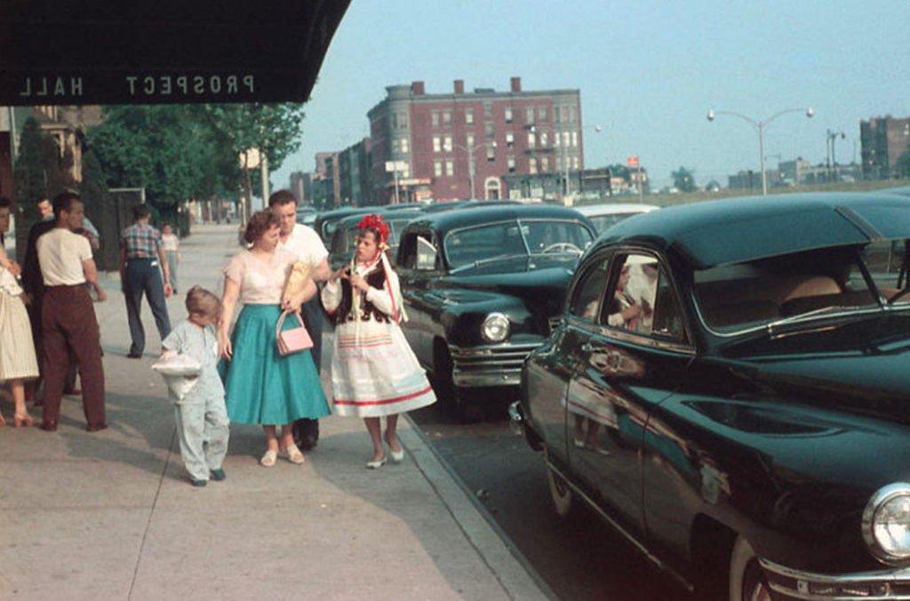 city Настоящая жизнь в США 1950-х годов
