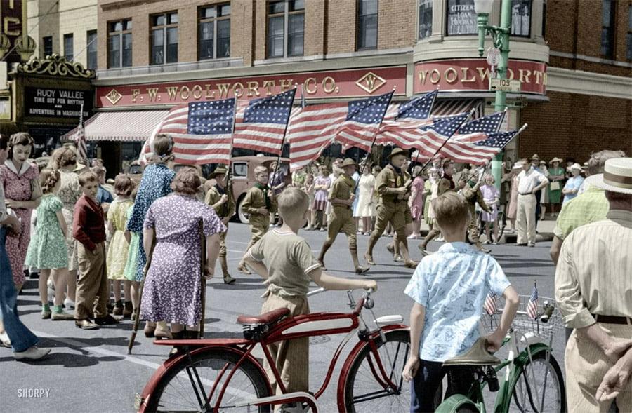 flags Настоящая жизнь в США 1950-х годов