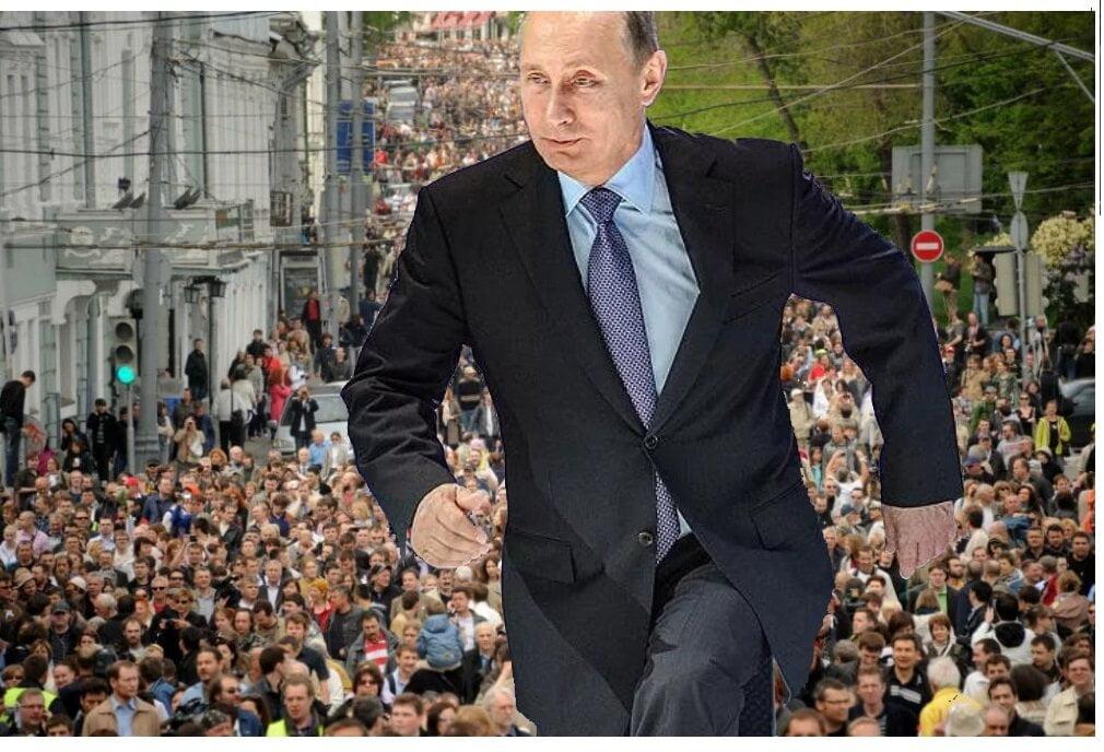 Путин сбежал