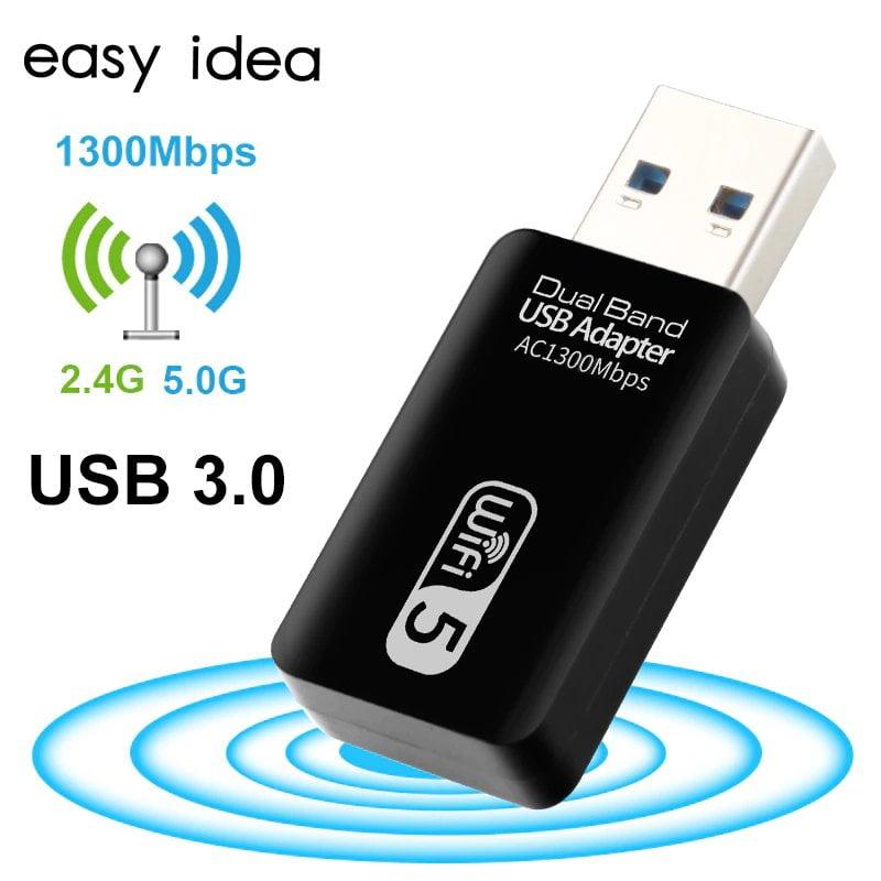 1300mbps 2 4g 5g usb Переход WiFi с диапазона 2.4 GHz на 5 GHz, увеличение скорости