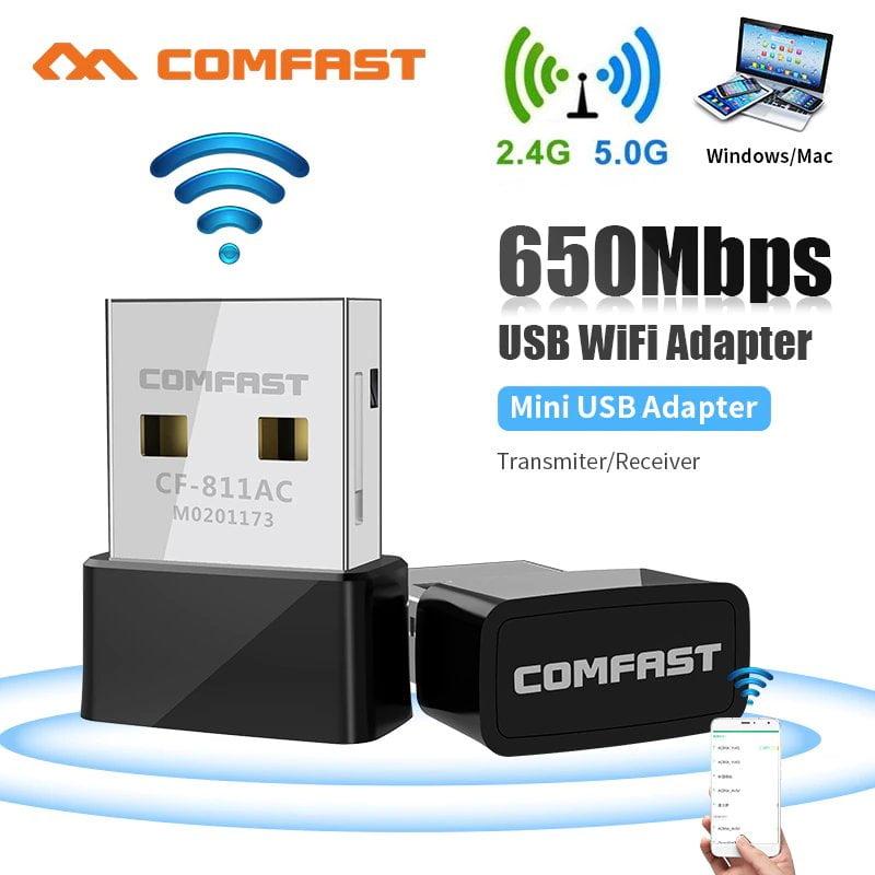650mbps 2 4g 5g usb Переход WiFi с диапазона 2.4 GHz на 5 GHz, увеличение скорости
